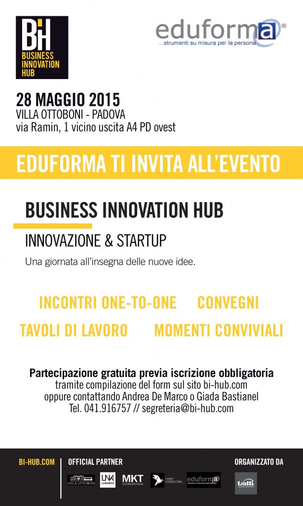 Business Innovation Hub – 28 MAGGIO 2015